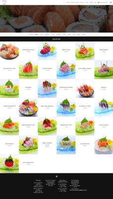 Menu of Sashimi