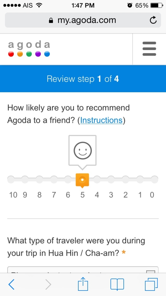 Agoda Mobile Review Page